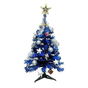 JIAJU 2 FT Christmas Tree,Table Top Christmas Tree,Pink Christmas Tree,Blue Christmas Tree Decorated,Purple Christmas Tree with Ornaments Sets 92