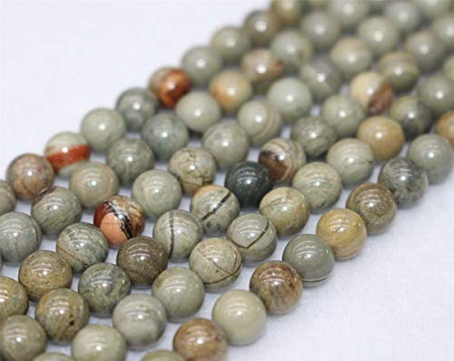 Wholesale A Natural Silver Leaf Jasper Beads,4mm 6mm 8mm 10mm 12mm Silver Leaf Jasper Round Beads.Silver Leaf Jasper Beads Wholesale.Wholesale Beads (6mm,62pcs)