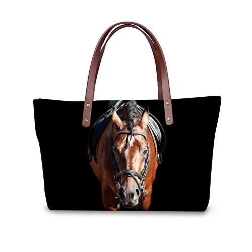 Personalized Handbag Animal 8 Bags Zipper Casual Tote Color Showudesigns Horse Closure OSAqwnWAp