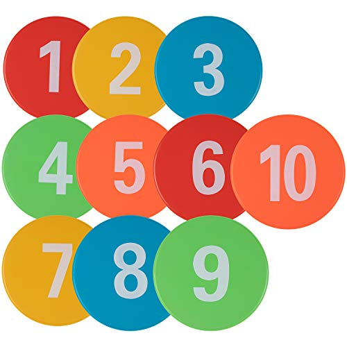 (Juvale Numbered Floor Spot Markers, 10-Pack 9