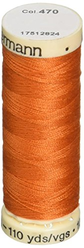 GUtermann polyester thread, 110 yards, color 470, orange