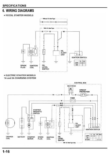 41N4Tx3MgHL amazon com honda gx240 gx270 gx340 gx390 engine service repair honda gx270 wiring diagram at gsmx.co