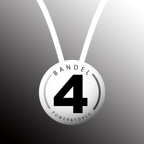 BANDEL(반델) 스포츠 건강 목걸이 넘버 시리즈 No.4 화이트 55cm