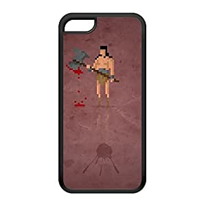 8Bit - Marvel Conan the Barbarian Black Silicon Rubber Case for iPhone 5C by DevilleArt + FREE Crystal Clear Screen Protector