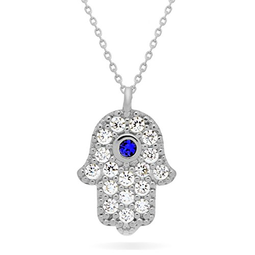 925 Sterling Silver Small Hamsa Necklace Solid Silver Hand of Fatima Necklace, Silver Hamsa Hand Necklace Hamsa Pendant Luck Necklace Evil Eye Protection Necklace