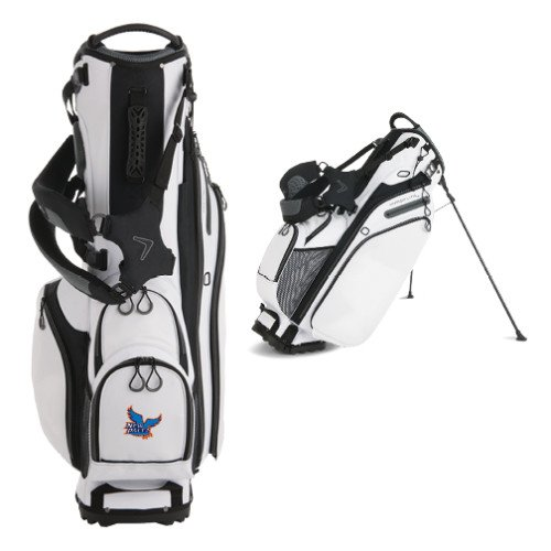 New Paltz Callaway Hyper Lite 4 White Stand Bag 'Official Logo' by CollegeFanGear