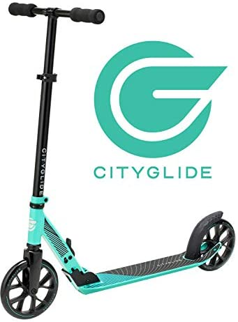 CITYGLIDE C200 Kick Scooter for Adults, Teens – Foldable, Lightweight, Adjustable – Carries Heavy Adults 220LB Max Load
