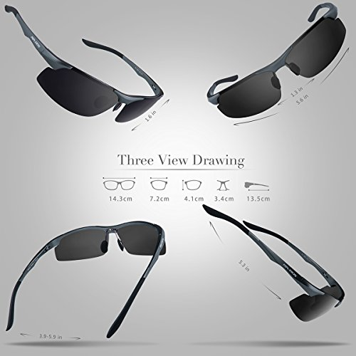 091 hombre grey Gafas RIVBOS sol para de qzOXzwpx6
