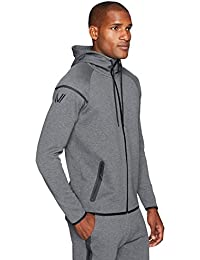 Amazon Brand - Peak Velocity Men's Metro Fleece Full-Zip Athletic-Fit Hoodie