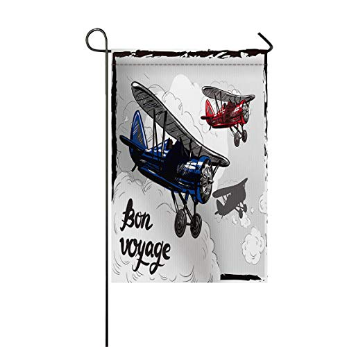 SODIKA Home Decorative Outdoor Double Sided Garden Flag - Biplane,28
