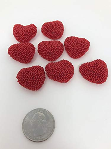 - Jelly Belly Red Raspberry Hearts 5 pounds Nonpareil Hearts