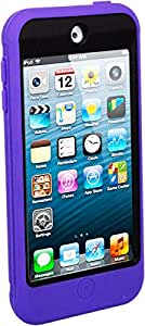 For iPod Touch 6 - Coverking 3-in-1 Anti-Shock Silicone Hard Case Built-In Screen Protector - Purple