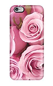 Durable Protector Case Cover With Special Pink Roses Hot Design For Iphone 6 Plus