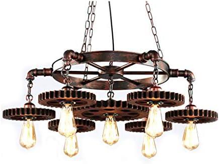 Health uk chandelier retro loft 7 lampadario a sospensione rustico
