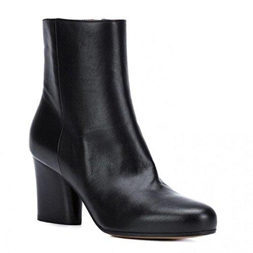 Maison Margiela Women's Black Leather Ankle Boots - Booties Shoes - Size: 9 - Boutique Margiela