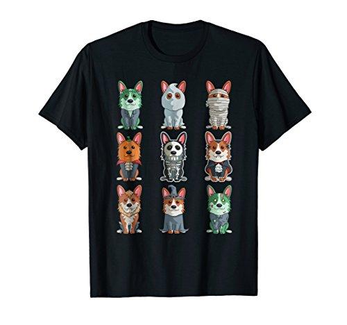 Cute Corgi Halloween T-Shirt Funny Halloween Gift Tee ()
