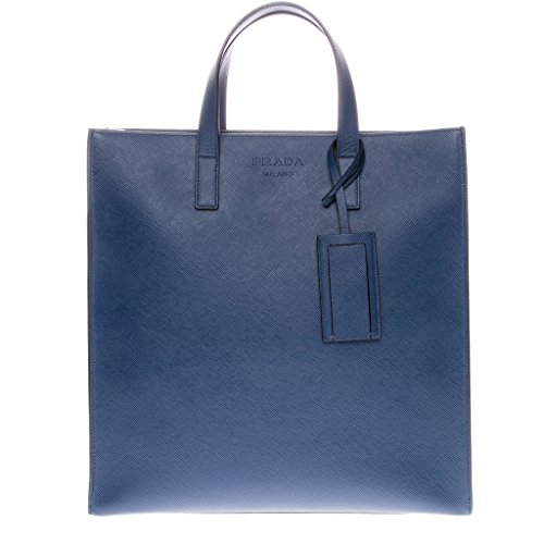 Prada Women's Saffiano Cuir Travel Tote Blue
