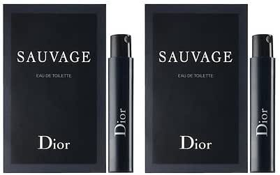 Dior Sauvage Sample-Vials For Men, 0.03 oz EDT -LOT OF 2- -Name Brand Sample-Vials Included-
