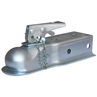 "Husky 87074 2"" Ball 2.5"" Width 3,500 lbs. Straight Coupler with Chain,Grey: Automotive"