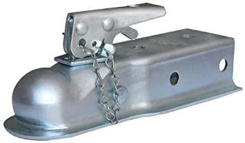 Husky 87074 2 Ball 2.5 Width 3,500 lbs Straight Coupler with Chain