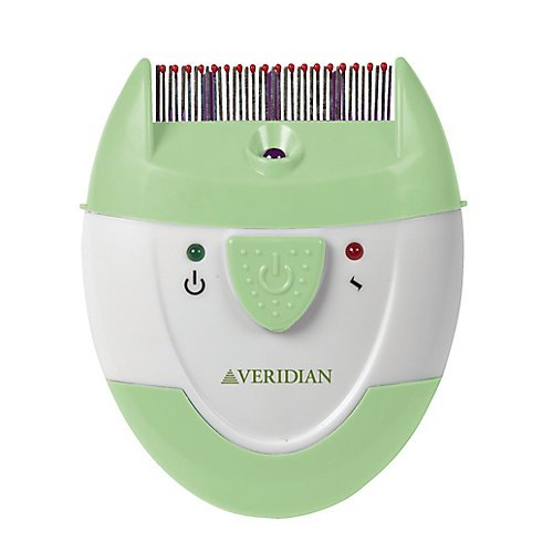 Veridian Healthcare Finito Electronic Lice Comb  Green White