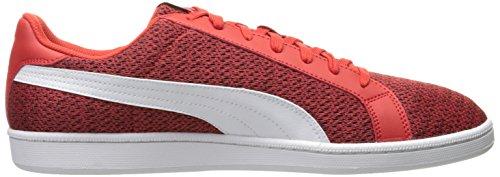 Sneaker Sneak Knit Fashion Homme, Rouge À Haut Risque / Blanc Puma, 5 M Us