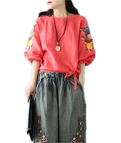 3/4 sleeve linen dress - 9