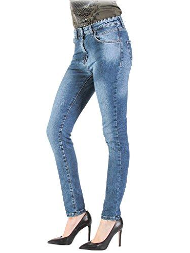 Moyen taille pour Lavage Stone 701 Carrera taille haute Bleu Jeans extensible femme ajuste Jeans tissu Wash T775A0970A 4xx6zT
