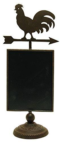 CWI Gifts Rooster Chalkboard Pedestal ()