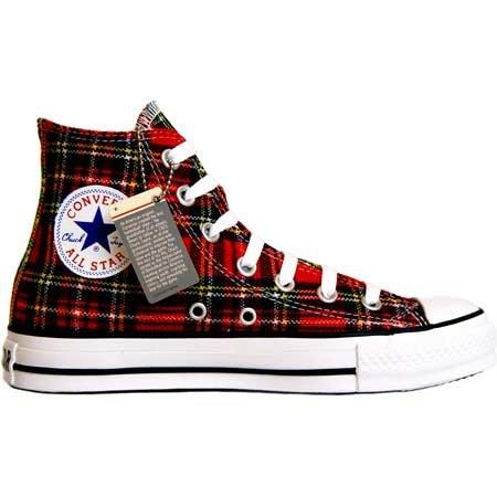 da0b12ac1e Converse All Star scozzese Ska Chuck Red/Tartan Hi 1q455 misura 41,5 ...