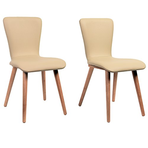 Midtown Concept Cream Carly 2 Piece Living Room Dining Chair Set