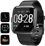 YUNSYE Waterproof Fitness Tracker Sport Watch Smart Bracelet with Pedometer Calorie Counter Heart Rate Sleep Monitor for…