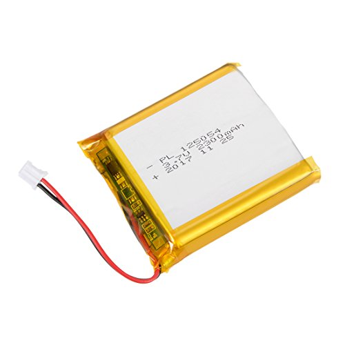 - uxcell® Power Supply DC 3.7V 2300mAh 125054 Li-ion Rechargeable Lithium Polymer Li-Po Battery