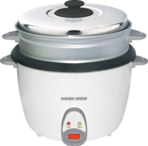 Black & Decker RC2800 15-Cup (Uncooked) Non-Stick Stainless Steel Rice Cooker, 220 to 240-volt