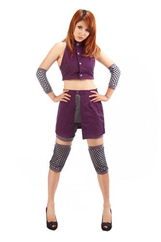 OURCOSPLAY Women's Naruto Yamanaka Ino Naruto Shippuden Cosplay Costume 5Pcs (Women XS)