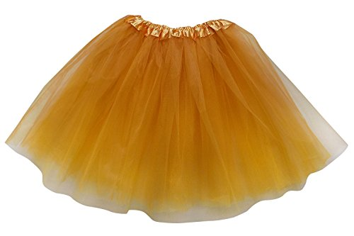 Plus Size Adult Tutu-Princess Costume Ballet Warrior Dash 5K Run Running Skirt (Gold),Plus -
