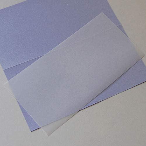 100 transparente Einlegeblätter 10,3 x 20,8 cm (für Klappkarten DIN lang)