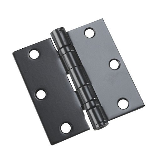 Richelieu Hardware - 4821FBB - Box of 2 - 3-1/2 Inches Full Mortise Ball Bearing Butt Hinge - Black  Finish