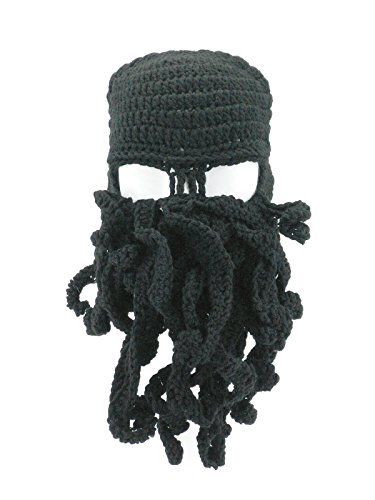 b1a7a8caad6 Oidon Octopus Winter Warm Knitted Wool Ski Face Mask Knit Beard Squid Beanie  Hat Cap
