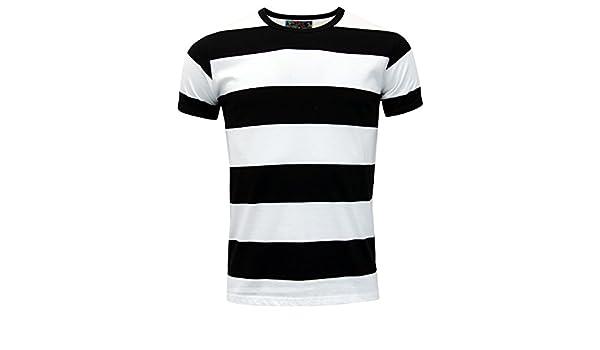 Madcap England - Camiseta - para Hombre Multicolor Negro/Blanco ...