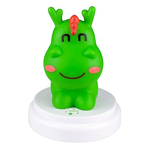 Lámpara de dragón verde para niños