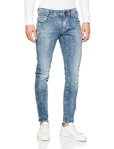Blu Uomo Vintage star light Jeans Destroy Aged Raw G PqRwFOn
