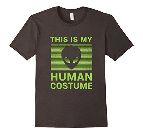 Men's Easy Costume Ideas (Mens Funny Alien Halloween Shirt Easy Costume for Women Men Boys XL Asphalt)