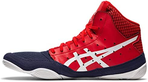 41N4cSS0mCL. AC ASICS Men's Snapdown 3 Wrestling Shoes    Made in USA or ImportedBreathable Mesh Upperkimono tongue inspiration provides a better foothold and an improved fitSynthetic Leather and Mesh Upper: Lightweight, comfortable and breathable, enhancing performance and fit
