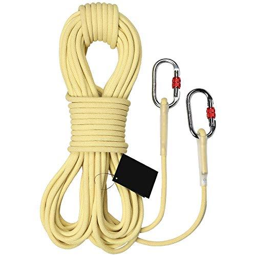 ロープ 耐久性のあるロッククライミングロープ、屋外消防、レスキューパラシュート静的屋内ロープエスケープ、ヘビーデューティロープ直径6mmの8mmの安全 (Size : 8mmx49ft)  8mmx49ft