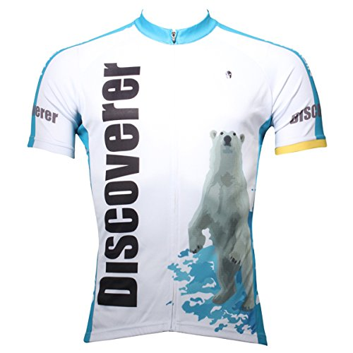 Bear Riding Polar (Ilpaladino Men's Cycling Jersey Short Sleeve Biking Shirts Animals Pattern (XXXL, Polar Bears))