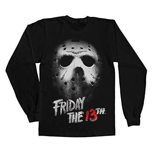 [Friday The 13th Long Sleeve T Shirt Friday The 13th new Official Mens Black] (Jason Vorhees Masks)