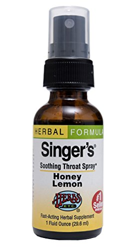 Singer's Saving Grace Honey Lemon - Promotes Voice Clarity & Vocal Comfort - Herbal Remedy Soothes Moistens & Lubricates Throat Tissues - 1 oz Spray (Contains Echinacea + Propolis & More) - Herbs Etc