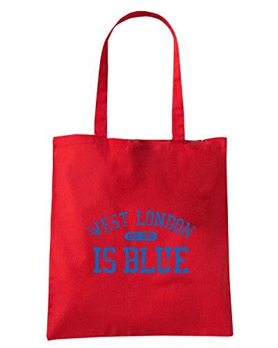 Speed Shirt Borsa Shopper Rossa WC0254 CHELSEA WEST LONDON IS BLUE