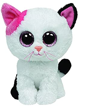 Ty - Muffin, Peluche Gato, 15 cm, Color Blanco (36086TY)